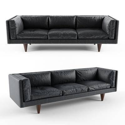 2000套高精3D单体模型, 现代, 双人沙发