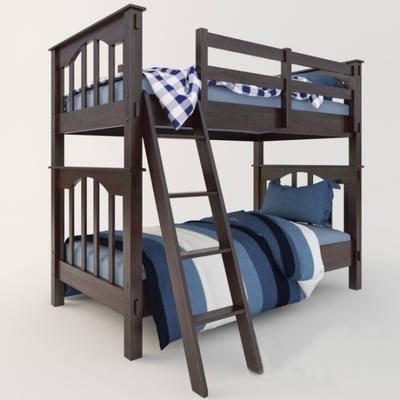 2000套高精3D单体模型, 现代, 双层床