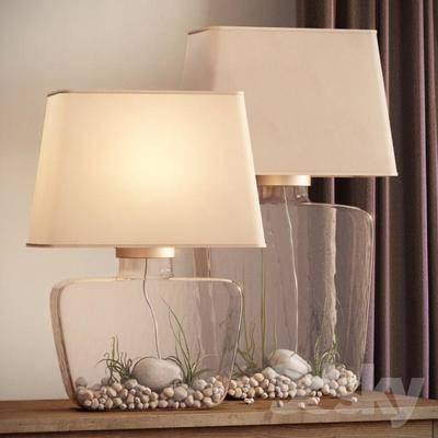 2000套高精3D单体模型, 现代, 台灯, 灯饰, 装饰灯