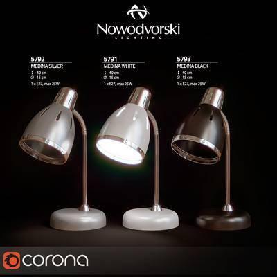 2000套国外模型, 现代, 台灯, 灯饰