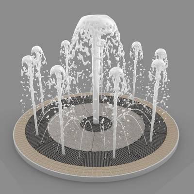 下得乐品牌模型库, 现代, 喷泉