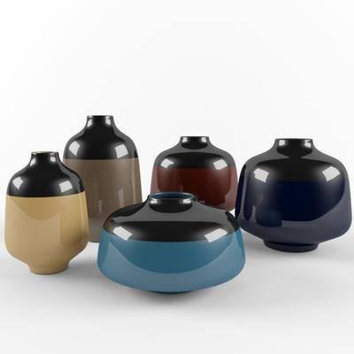 现代, 器皿, 摆件, 陶瓷