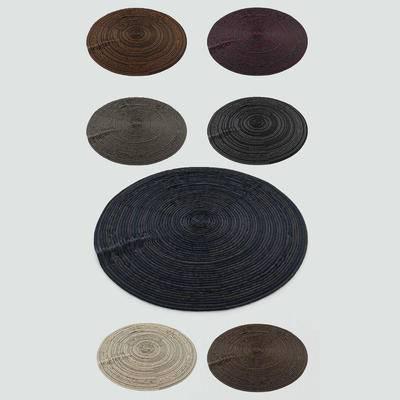 2000套高精3D单体模型, 现代, 圆形地毯, 地毯