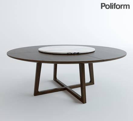2000套高精3D单体模型, 现代, 圆形茶几, 茶几