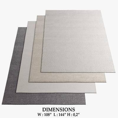 地毯, 现代, 方形地毯