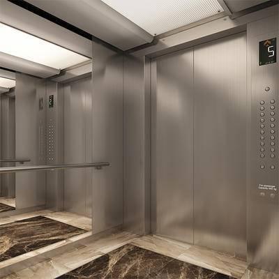 2000套高精3D单体模型, 下得乐品牌模型库, 现代, 电梯