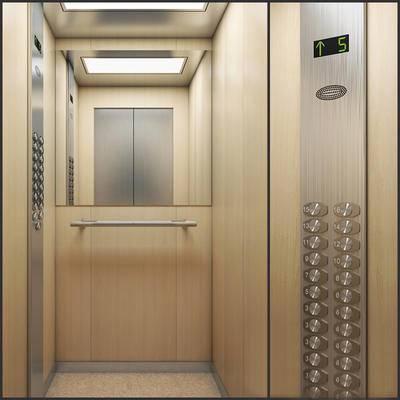 2000套高精3D单体模型, 下得乐品牌模型库, 现代, 电梯, 垂直电梯
