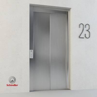 2000套高精3D单体模型, 现代, 电梯