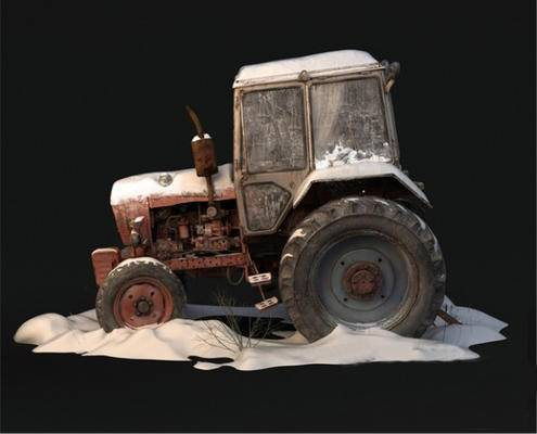 下得乐品牌模型库, 现代, 复古拖拉机, 拖拉机