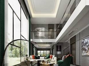 现代复式别墅客厅3D模型3_3d模型