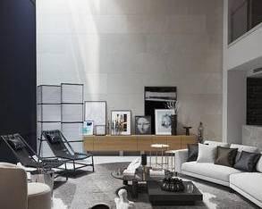 现代复式别墅客厅3D模型_3d模型