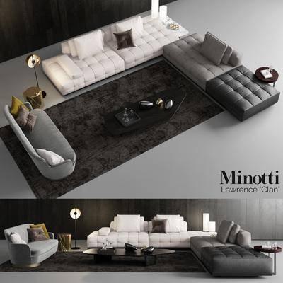 现代, 多人沙发, 沙发, 茶几