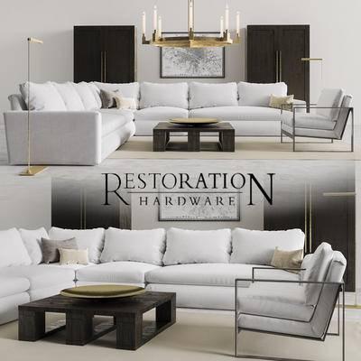 现代, 多人沙发, 转角沙发, 拐角沙发, 茶几