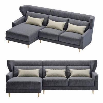 2000套国外模型, 现代, 多人沙发, 拐角沙发