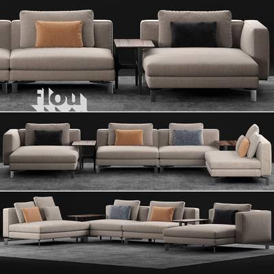 2000套国外模型, 现代, 多人沙发, 沙发, 拐角沙发, 准焦沙发