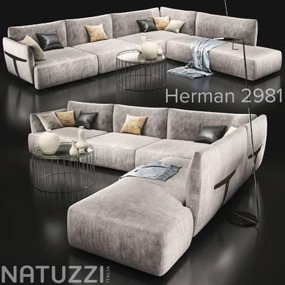 现代, 多人沙发, 拐角沙发, 转角沙发, 沙发
