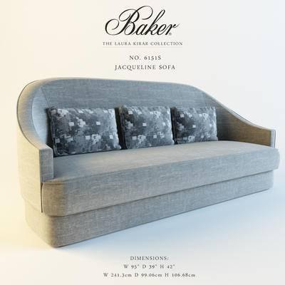 下得乐品牌模型库, 现代, 多人沙发, 沙发