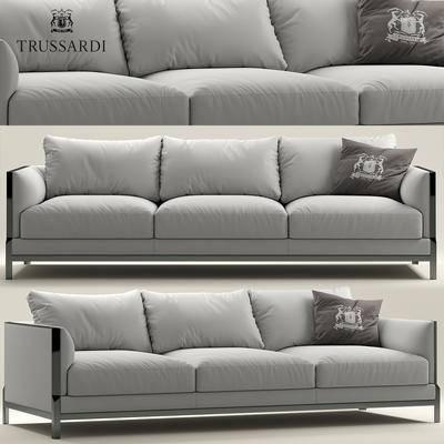 现代, 沙发, 多人沙发