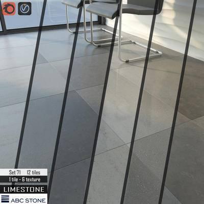 下得乐品牌模型库, 现代, 大理石地板, 地板