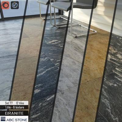 下得乐品牌模型库, 现代, 地板, 大理石地板, 大理石