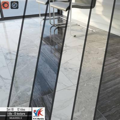 下得乐品牌模型库, 现代, 大理石, 大理石地板, 地板