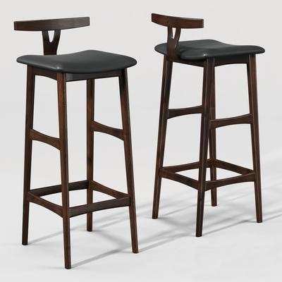 下得乐品牌模型库, 现代, 吧椅, 沙发椅