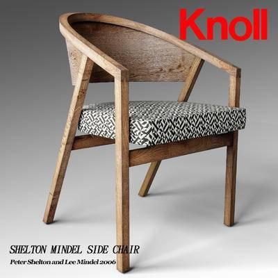 下得乐品牌模型库, 现代, 单椅, 实木椅