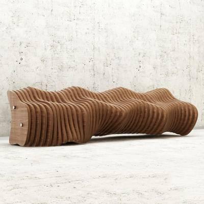 下得乐品牌模型库, 现代, 长椅