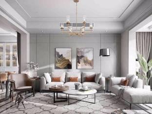 现代客厅吊灯3D模型