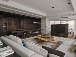 现代客厅3D模型2_3d模型