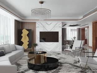 现代客厅3D模型3_3d模型