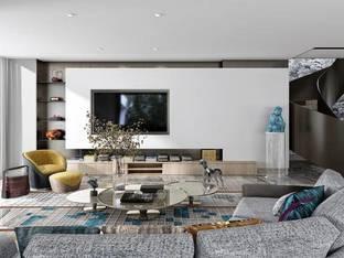 现代客厅3D模型4_3d模型