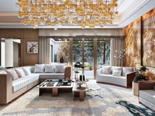 现代客厅3D模型7_3d模型