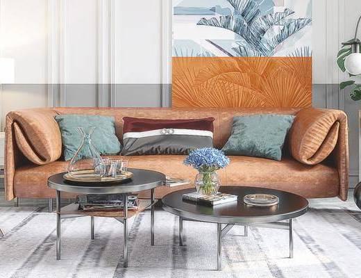 下得乐2019季千套模型, 现代, 客厅, 餐厅, 桌椅组合, 沙发组合