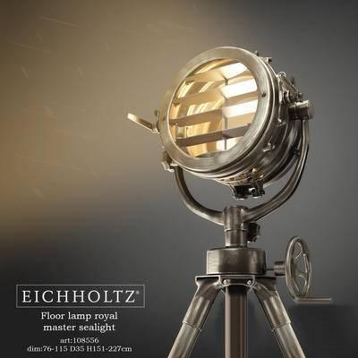 2000套高精3D单体模型, 工业风, 落地灯, 灯饰