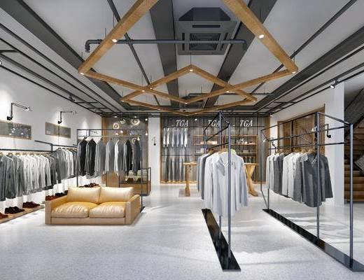 工业风, 服装店