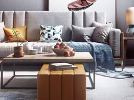 现代布艺沙发组合