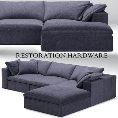 下得乐品牌模型库, 现代, 布艺沙发, 多人沙发, 拐角沙发