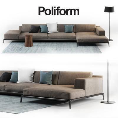 现代, 布艺沙发, 拐角沙发, 沙发