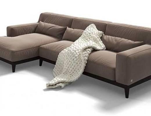 下得乐品牌模型库, 现代, 布艺沙发, 转角沙发, 拐角沙发, 多人沙发, 沙发