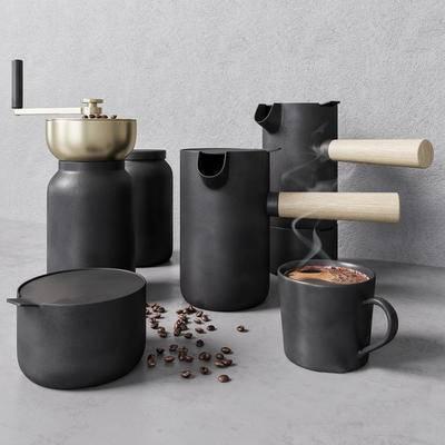 2000套国外模型, 现代, 咖啡壶, 摆件