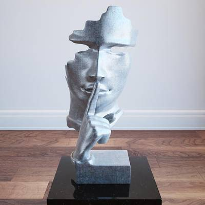 现代, 雕塑, 摆件