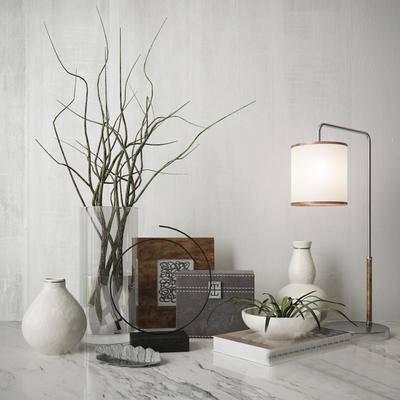2000套高精3D单体模型, 现代, 摆件, 台灯, 花瓶