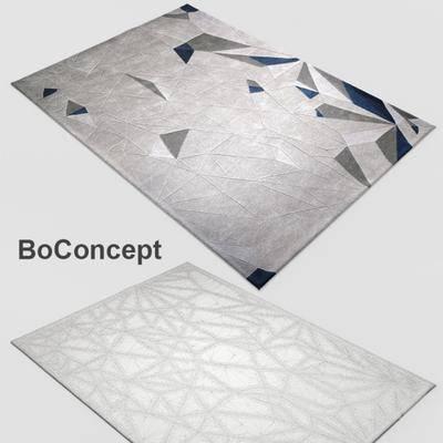 2000套高精3D单体模型, 现代, 方形地毯, 地毯