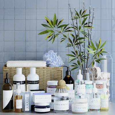 现代, 日用品, 洗漱用品, 摆件, 花瓶花卉