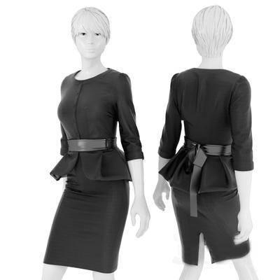 2000套高精3D单体模型, 现代, 服装, 服饰, 服装模特