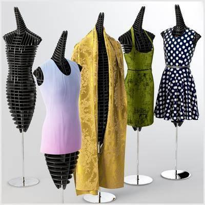 2000套高精3D单体模型, 现代, 服装, 服装模特