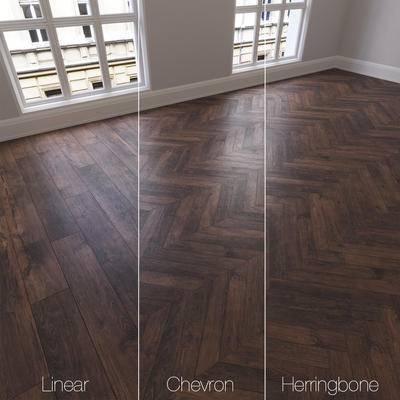 下得乐品牌模型库, 现代, 木质地板, 地板, 木地板