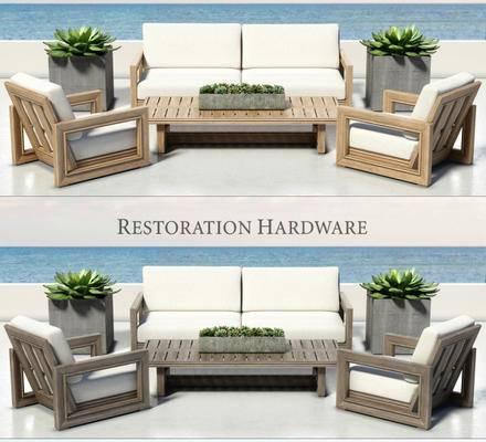 下得乐品牌模型库, 现代, 双人沙发, 单人沙发, 沙发组合