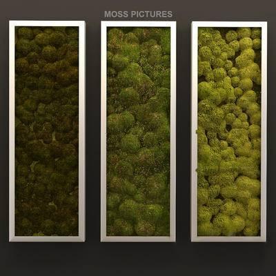 2000套高精3D单体模型, 现代, 植物墙, 植物, 绿植
